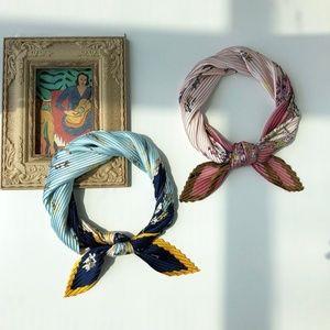 Fashion Square Fold Scarf Kerchief Silk Head Wrap